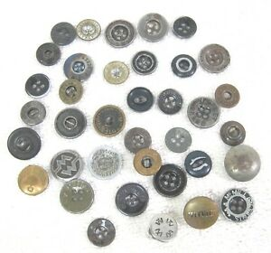 37 Vintage Mixed Work Clothing Buttons Hercules Stag Shan House MORE!! LB04