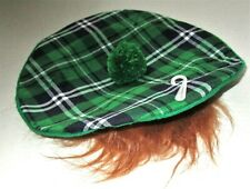 St Patrick's Day NEWSBOY BERET W/ FAKE HAIR 100% Polyester