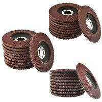 "30 x Flap Discs 40, 60 & 80 Grit Angle Grinder 4.5"" 115mm Flat Sanding Grindin"