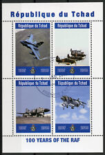 Chad 2019 CTO Royal Air Force RAF 100 Years 4v M/S Aviation Stamps