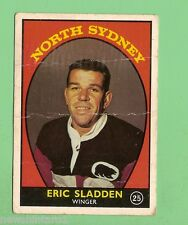 #D126. 1968 SERIES 1 RUGBY LEAGUE CARD #25  ERIC SLADDEN, NORTH SYDNEY