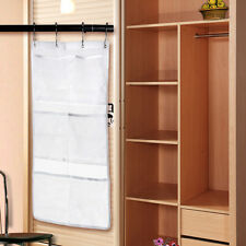 6 Pocket Bathroom Tub Shower Hanging Mesh Organizer Caddy Storage Bag Holder #P