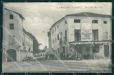 Vicenza Camisano Vicentino PIEGATA cartolina QT2635