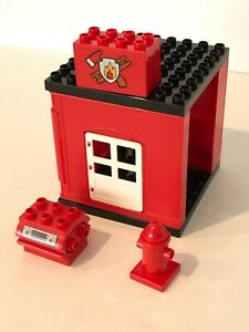 Lego Duplo Fire Station Building Replacement Parts Bricks Base Door Fire Hydrant
