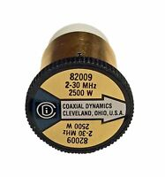 Coaxial Dynamics 82009 Element 0 to 2500 watt for 2-30 MHz Compatible with Bird
