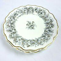 Chamberlain's Worcestor Scottish Thistle Lot 3 Dinnerware Plates Gold Gray