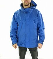 Men's Nike ACG All Condition Gear Rain Jacket With Hood in Blue  Size Large