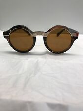 Sunglasses Brown Tortoise Shell Round Gold Tone Womens Kiss KS1465 China