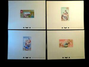 LAOS Presentation PROOF Stamp Sheet Set Scott 48-51 MNH Hard To Find Item