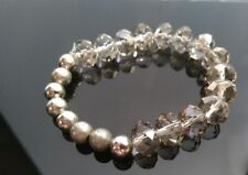 Clear Crystal Bead AB Stretch  Bracelet Jewellery Sparkly Bling
