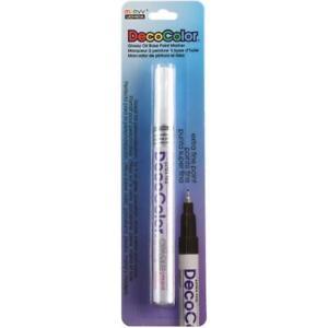 Deco Color Extra Fine Opaque Paint Marker 1/Pkg-White Marvy
