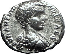 CARACALLA 198AD Silver Genuine Authentic Ancient Roman Coin SPES HOPE  i60476