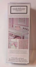 Wendy Bellissimo Gracie Wall Decals Stickers for Baby Girl Nursery Decor Pink