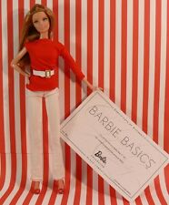 Authentic BARBIE BASICS RED Outfit ONLY Model #1 Pant-Top-belt-Shoes NO DOLL