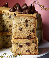 ☆Banana-Chocolate Chip Cake w/ Peanut Butter Frosting Recipe☆Moist & Rich!!!☆