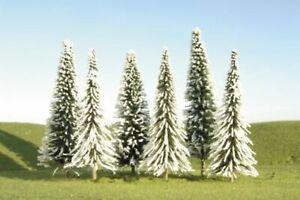 Bachmann 5 6 Pine Trees W/Snow (6) *, #BAC32002