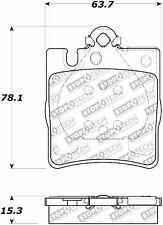 Centric Disc Street Brake Pad Set Rear For 96-11 Mercedes-Benz #308.08760