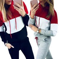 2pcs Women Tracksuit Hoodies Sweatshirt Pants Set Sport Jogging Casual Suit USA