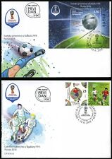2018 Serbia, 2018 FIFA World Cup Russia™, soccer, football, 2 FDC's