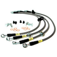 FOR 2004-2007 SUBARU WRX STI STOPTECH BRAKE LINES STAINLESS STEEL SS LINE KIT