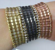 Very Beautiful Runway Elegant Fashion Clare Rhinestone Mesh Stretchy Bracelet
