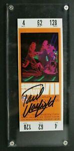 Paul Warfield Miami Dolphins HOF Autographed Signed Super Bowl VII Ticket Stub