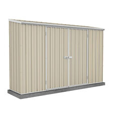 Absco ECO Skillion Roof 3m x 0.78m Double Door Colour Garden Shed