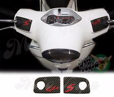 Carbon Look GTS S Handlebar pump covers overlay 3D Decals stickers Vespa 250 300