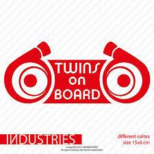 Twins on Board Aufkleber | Car Bi Turbo Biturbo JDM OEM Fun Sticker RS4 RS6 335i