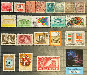 Sparkling Collection of 21 Magyar/Hungarian Used Stamps       (Ref: 19549)