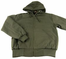 Mens NWT Browning Buckmark Hooded Cotton Canvas Loden Green Camo Jacket Size S