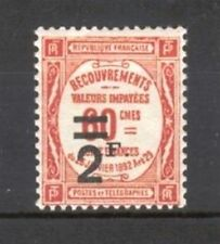 "FRANCE STAMP TIMBRE TAXE YVERT N° 54 "" 2F SUR 60c ROUGE "" NEUF xx LUXE  A115"