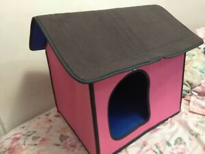 Travel Ready Pink Fold and Carry Dog House in a Bag