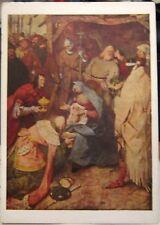 Postcard Art Peter Breugel Adoration of Kings - unposted