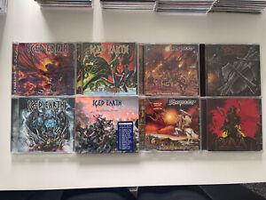 8 X Power Metal CD Bundle Job Lot Iced Earth Rhapsody Sacred Steel