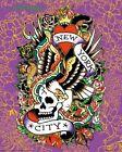 Ed Hardy New York City 20x16 Tattoo Art Print Poster Skull Serpents Eagle Roses
