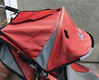 BOB Revolution / Strides Jogger Stroller RED / GRAY CANOPY  Cloth Only 2004-10.