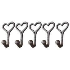5 Pcs Love Style Rustic Cast Iron Wall Coat Hooks Hat Hook Hall Tree Hardware