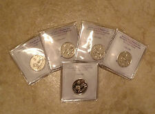 5 SILVER Plated Half Sheqel 1/2 Shekel Ancient Lion on NLM Israel Israeli Coins