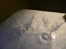 PAIR: EDINBURGH crystal OLIVE & CROSS edi9 pattern LOW SHERBET GLASSES