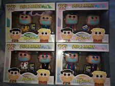 Funko Pop Fred And Barney Flintstones 2 Pack Set Of 4 Full Lot