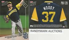 Travis Wood WOODY PADRES TOPPS NOW PLAYERS WEEKEND NICKNAMES PW-120 SP 52