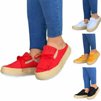 Womens Slip On Flats Loafers Ladies Solid Bowknot Casual Beach Tassels Shoes