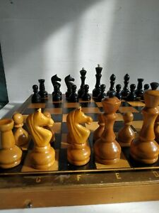 Olympic Soviet Chess Set Brown Rare Russian Vintage Plastic USSR