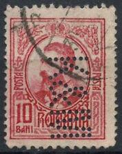 "Romania 1908-1919, 10b Perfin ""K&M"" Used #D5971"