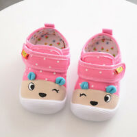 Toddler Kids Baby Boys Girls Cartoon Anti-slip Shoes Soft Sole Squeaky Sneakers