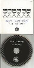NEW EDITION Hit Me Off 2TRX INSTRUMENTAL LIMITED USA CD single Boyz II Men 1996
