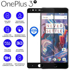 Negro 3D 9H Tempered Vaso Screen Protector Edge to Edge Coverage Para OnePlus 3T