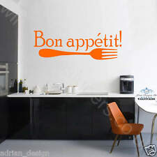 Bon Appetit vinyl Wall Sticker, Wall Art, Kitchen, Dining Room Decal