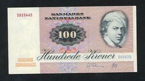 DENMARK  100 KRONER  1988   PICK # 51r  VF+.